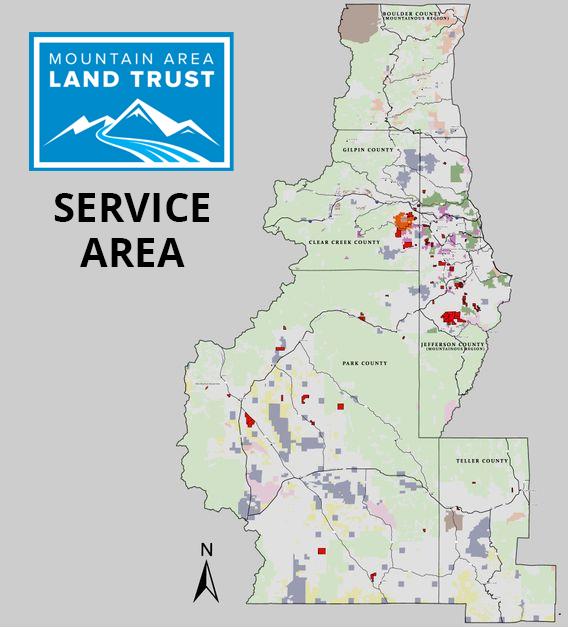 Mountain Area Land Trust Service Area Map